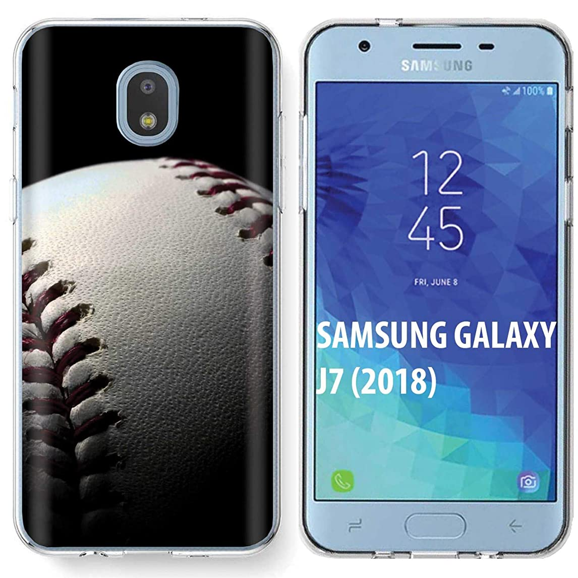 [NakedShield] Samsung Galaxy (J7 2018)/J7 Aero/J7 Refine/J7 Star/J737/J7 V 2nd Gen [Clear] Ultra Slim TPU Phone Cover Case [Baseball Print] bnnwt84298539038