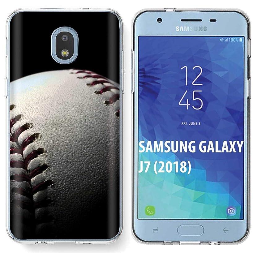 [NakedShield] Samsung Galaxy (J7 2018)/J7 Aero/J7 Refine/J7 Star/J737/J7 V 2nd Gen [Clear] Ultra Slim TPU Phone Cover Case [Baseball Print]