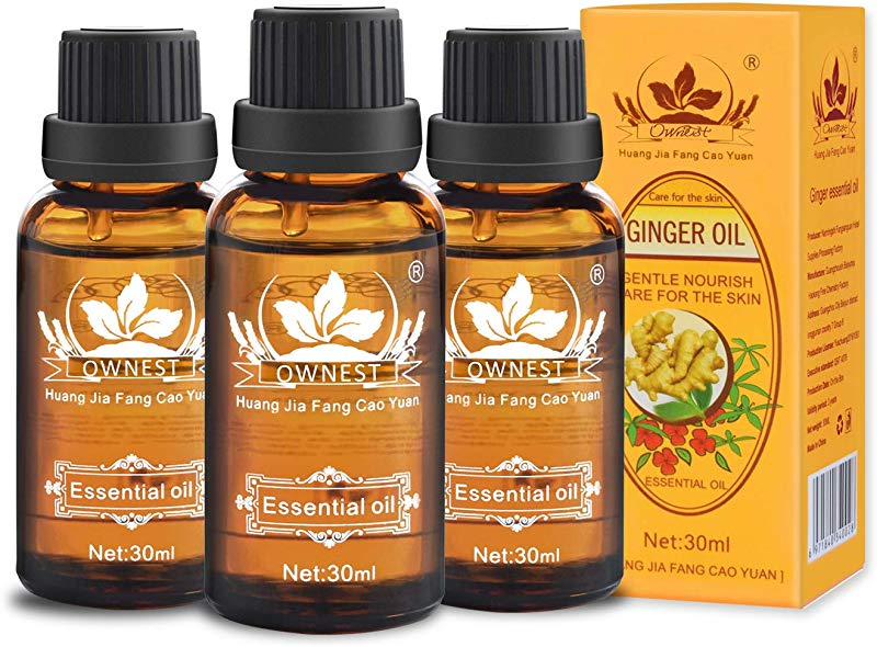 Ownest 3 Pack Ginger Massage Oil 100 Pure Natural Lymphatic Drainage Ginger Oil SPA Massage Oils Repelling Cold And Relaxing Active Oil 30ml