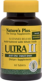 NaturesPlus Ultra II Multivitamin, Sustained Release - 60 Vegetarian Tablets - Daily Whole Food Vitamin & Mineral Suppleme...