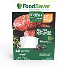 FoodSaver 1-Quart Precut Vacuum Seal Bags with BPA-Free Multilayer Construction for Food..