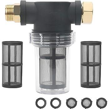 Integrated garden hose nut 1//2 NPT male inlet 15-150 PSI 3//4 Garden Hose outlet Stens 758-523 Inlet Filter