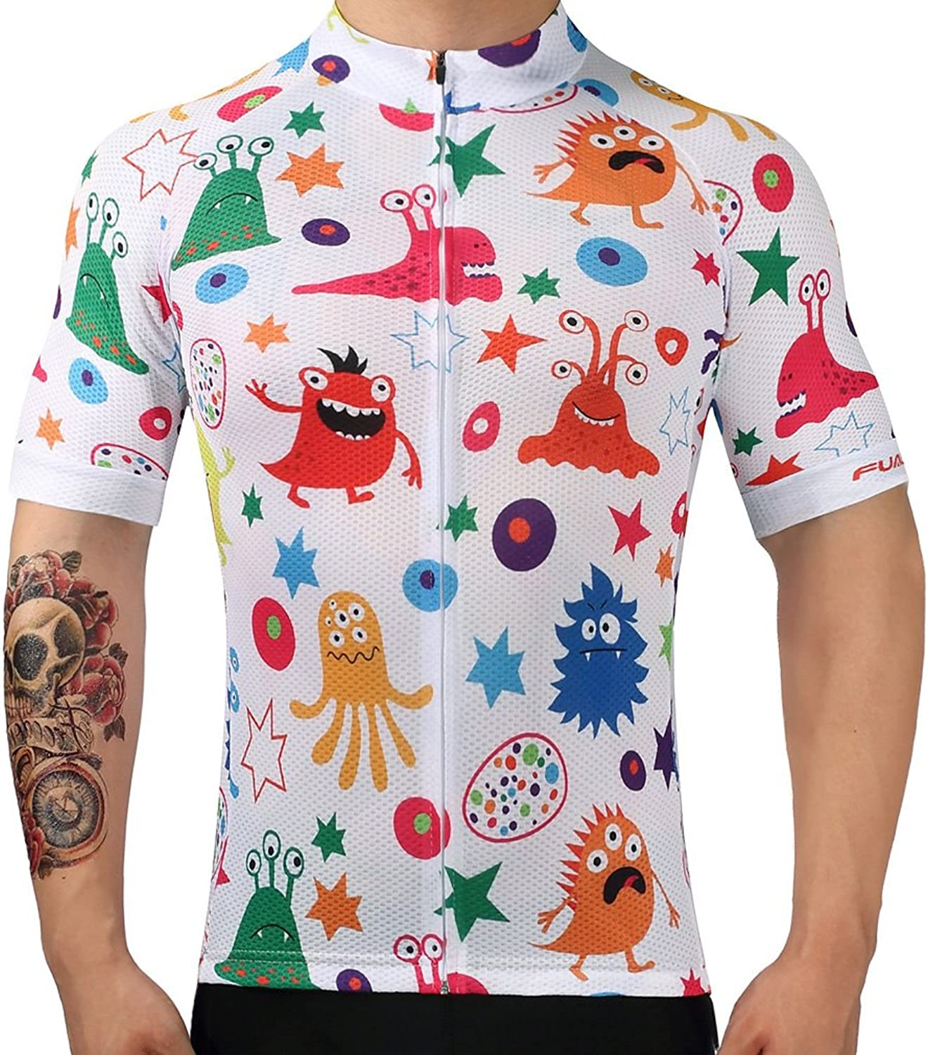 new styles 7d6f5 d8701 Nawing Cycling Jersey Short Sleeve MTB Breathable Summer ...