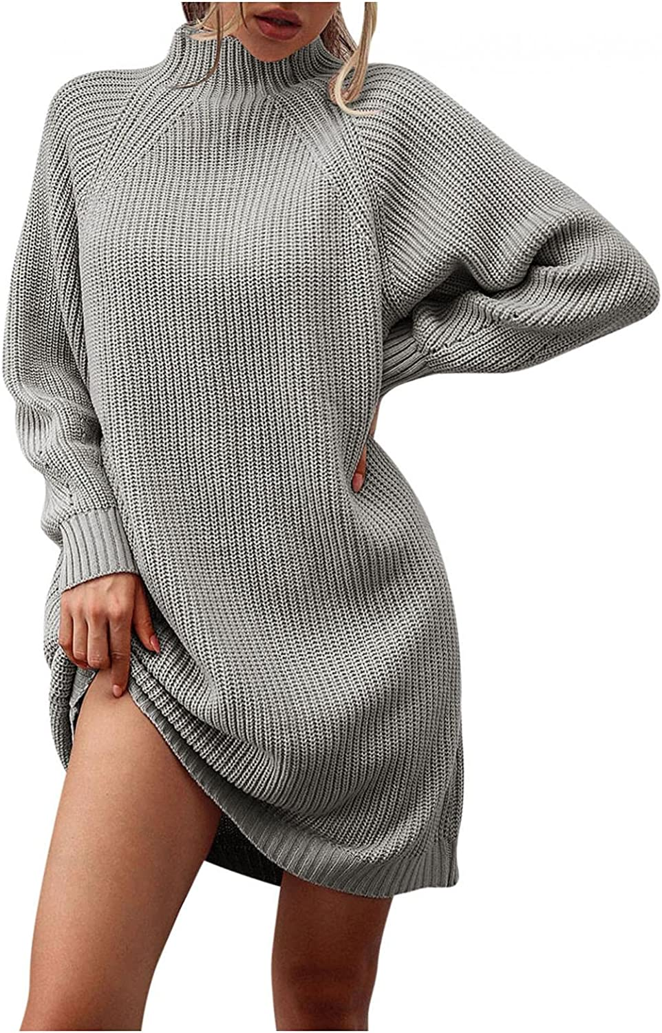DIOMOR Women Pullover Sweater Dress Free shipping New Fashion Autumn Solid Challenge the lowest price Loose L