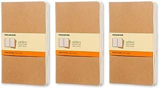 Moleskine Cahier Journal (Set of 3), Large, Ruled, Kraft, Soft Cover (5