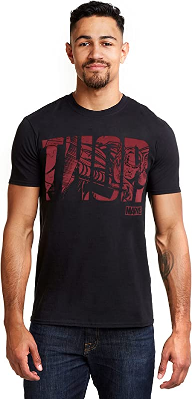 Marvel Thor Text Camiseta para Hombre