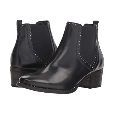 Paul Green Texas Boot (Black Leather) Women