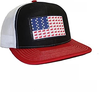 Ducks and Bullets Flag Patch Trucker Hat   East Coast Waterfowl