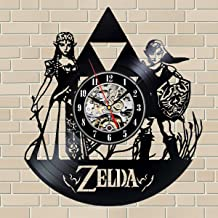 ArtoriDesign18 Legend of Zelda Wall Clock The Legend of Zelda Vinyl Record Wall Clock Vinyl Legend of Zelda Merchandise Wall Clocks Unique Handmade Retro Clock Legend of Zelda Poster Wall Clock