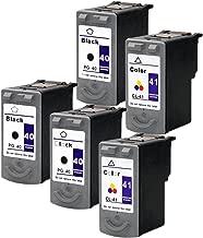ESTON PG-40 CL-41 Ink cartridge For PIXMA MP160 MP170 MP180 Printer (3 Black + 2 Color )