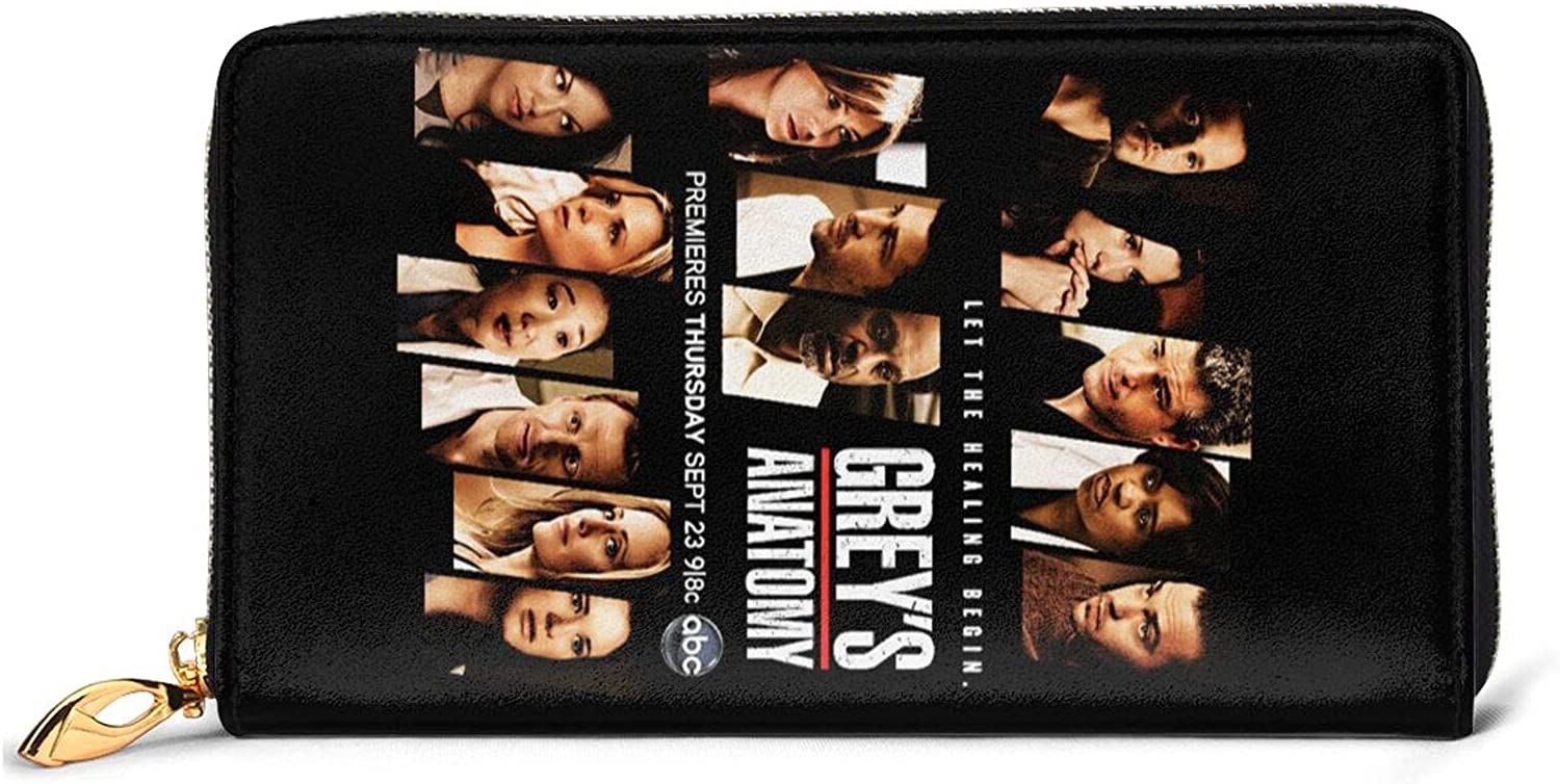 Grey's Anatomy Leather Wallet Soldering Cosplay Card Men For Holder Credit trend rank