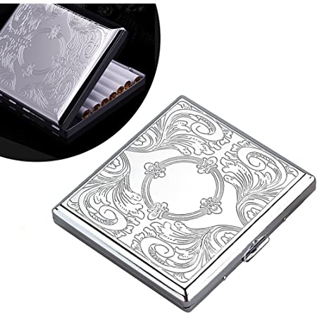 High Quality Metal Cigarette Case Box Holds 20 Cigarettes 84mm