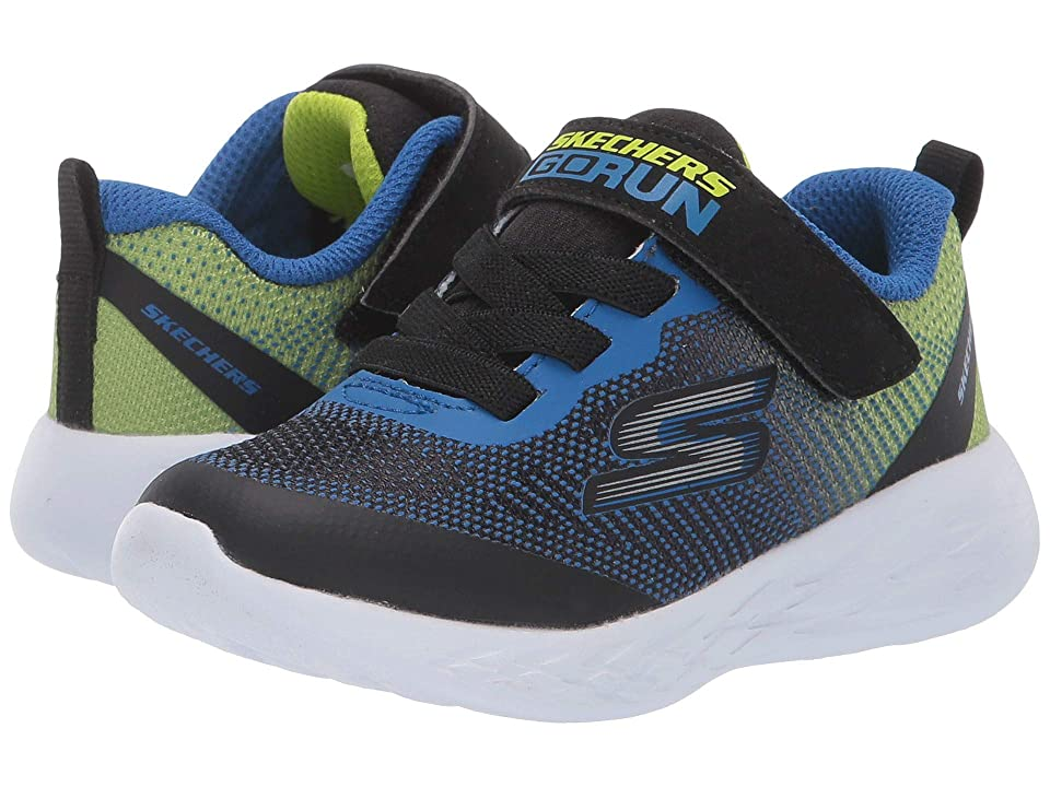 SKECHERS KIDS Go Run 600 (Toddler) (Black/Blue/Lime 2) Boy