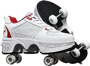 Modway Vervormingsrolschoenen, 2 in 1 verwijderbare onzichtbare katrolschaatsen schoenen - onzichtbare katrolschoenen auto...