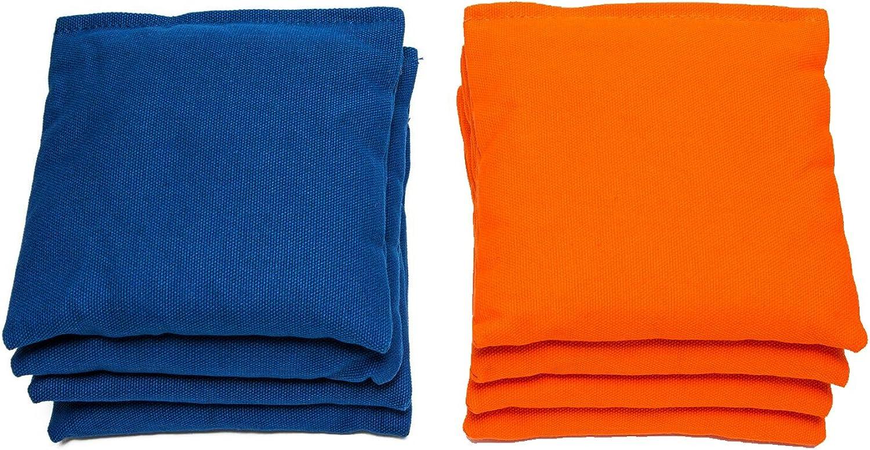 AJJ Cornhole - Cornhole Bags- Set of 8 - Royal orange