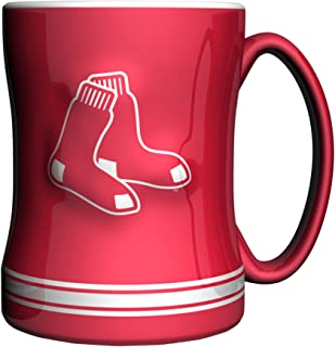 Boelter Brands MLB Unisex MLB 14-Ounce Sculpted Relief Mug Alternate Color, Red