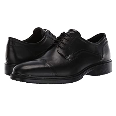 ECCO Lisbon Cap Toe Tie (Black) Men