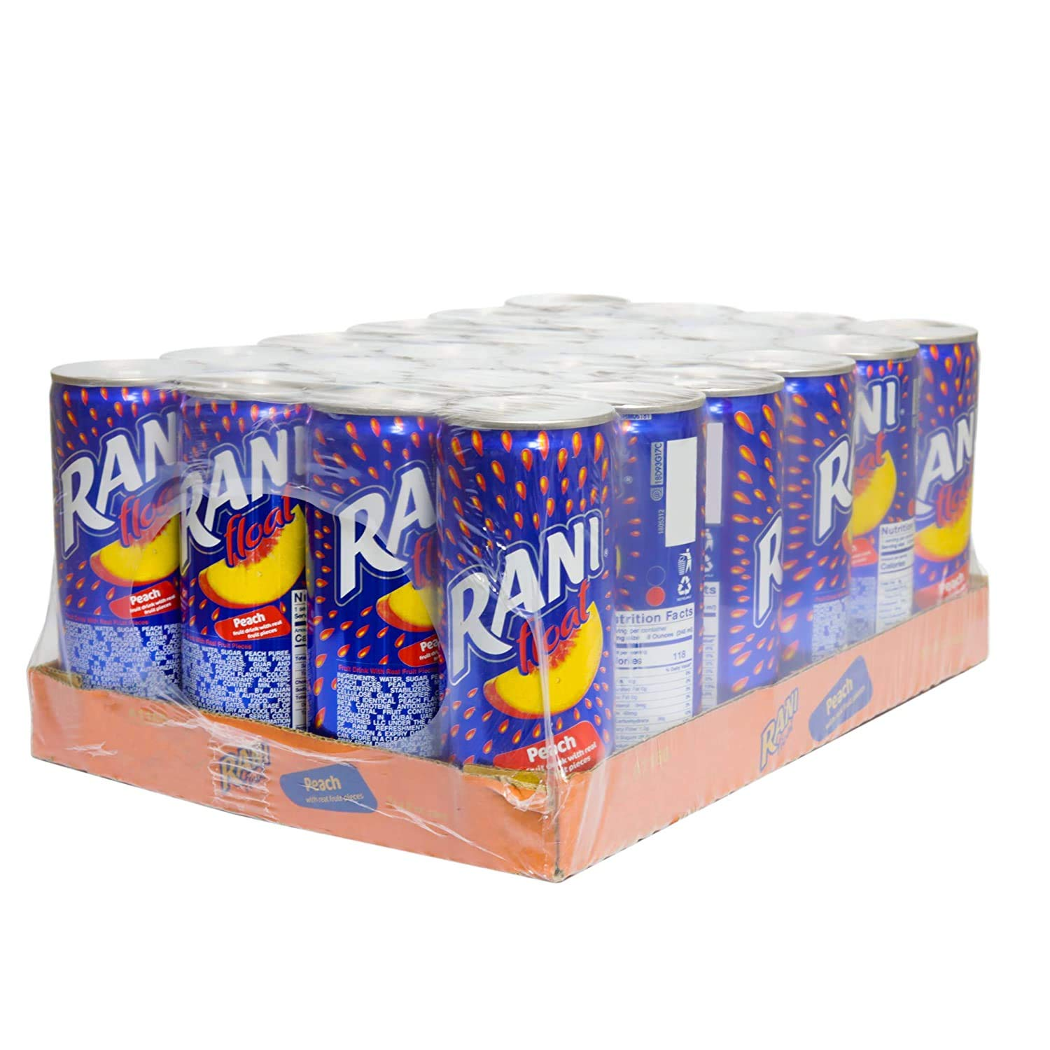 Float Peach Shipping included Juice with Real Fruit of Year-end annual account Can 24 Beverage Pieces Pack