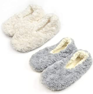 f5bc1beb648a TeeHee Cozy Fuzzy Slipper with Non-Skid Bottom 2-Pack for Women