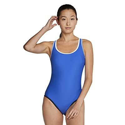 Speedo Contrast Binding One-Piece (Hyper Blue) Women