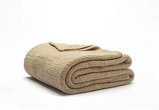 "Sunday Citizen Solid Design Snug Throw Blanket, Ultra Soft - Over Sized 52"" x 75"" Inch (Sahara Tan)"