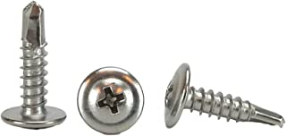 100-Pack The Hillman Group 80387 1 1 1 4 x 1//2-Inch Oval Head Phillips Sheet Metal Screw