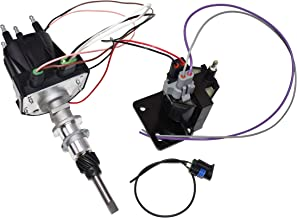 A-Team Performance EST Marine Electronic Ignition Distributor and Coil Upgrade Kit 3.0L Delco EST For 4 Cylinder Applications Compatible with Mercruiser Black Cap