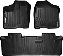 SMARTLINER Custom Fit Floor Mats 2 Row Liner Set Black for 2013-2019 Toyota Sienna 8 Passenger Model