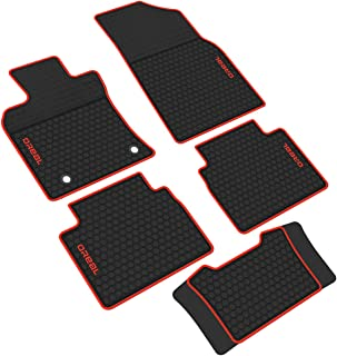 iallauto Compatible for Toyota Camry 2018 2019 Heavy Duty Rubber Front & Rear Floor Mats Liners Vehicle All Weather Guard Black Carpet
