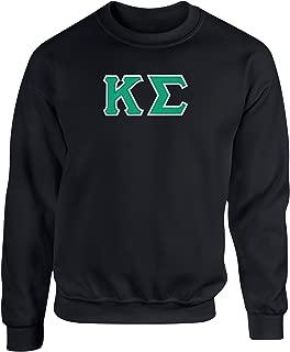 Fashion Greek Kappa Sigma Twill Letter Crewneck Sweatshirt