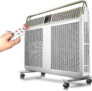 Calentador de convección eléctrico con percha de ropa, termostato inteligente, radiador impermeable para el hogar, programa de temporización de control remoto de calefacción de doble núcleo, 2200 W