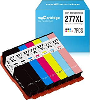 myCartridge Re-Manufactured Ink Cartridge Replacement for Epson 277XL (2 Black, 1 Cyan, 1 Magenta, 1 Yellow, 1 Light Cyan, 1 Light Magenta, 7-Pack)
