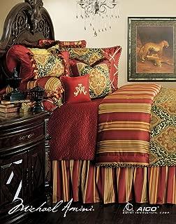 Michael Amini 13 Piece Nobel Philippe Comforter Set, King, Red/Gold/Green
