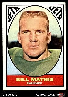 1967 Topps # 96 Bill Mathis New York Jets (Football Card) Dean's Cards 4 - VG/EX Jets Clemson