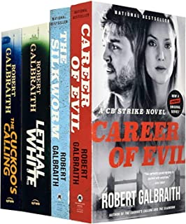 Cormoran Strike Series 4 Books Collection Set By Robert Galbraith (The Cuckoo's Calling, The Silkworm, Career of Evil, Let...