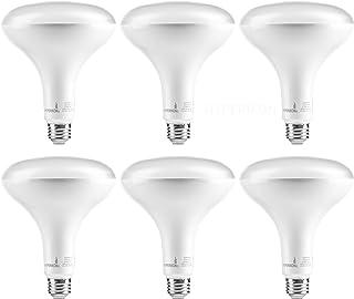 Hyperikon LED BR40 15W=100W, E26 Base, Non-Dimmable, Wide Flood Light Bulb, UL, Soft White, 6 Pack