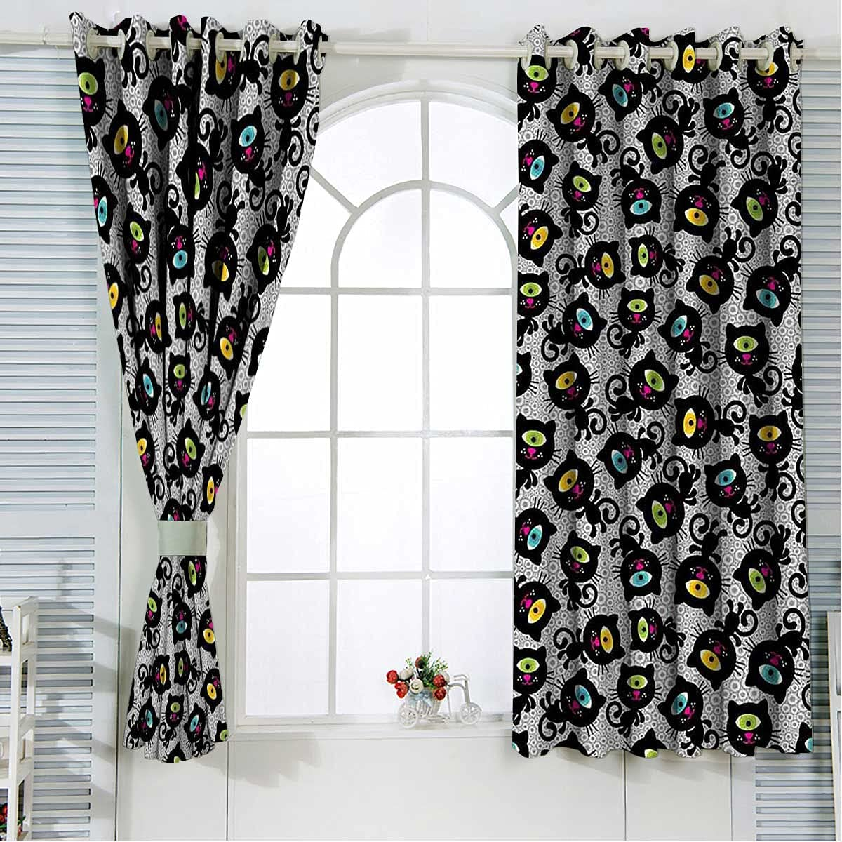 Heat Blocking Curtains 84 Inch Animals Outstanding Pet Max 83% OFF Length Kitten Domest