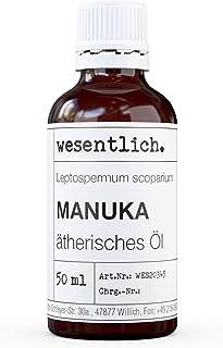 wesentlich. Manukaöl - ätherisches Öl - 100% naturrein Glasflasche - u.a. für Duftlampe und Diffuser 50ml