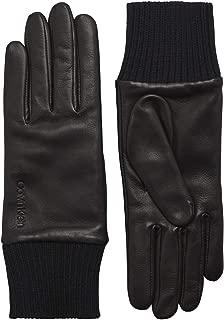 Calvin Klein Cuff Leather Womens Gloves