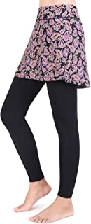 ANIVIVO Women Tennis Leggings with Pockets, Leggings with Skirts for Tennis