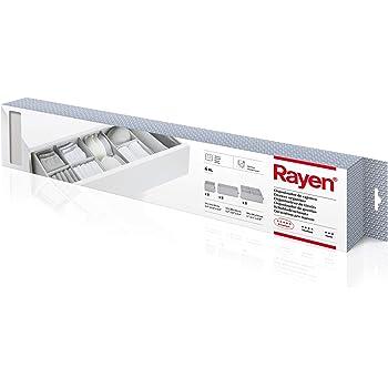 mDesign Juego de 2 cajas organizadoras de tela con 2 compartimentos Color: gris Los organizadores para cajones y armarios ideales Vers/átiles cestas de tela
