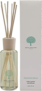 Royal Doulton Luxury Triple Scented Reed Diffuser - Ylang Ylang & Tuberose - Glass, Gift Set, Reed Sticks. Long Lasting Natural Scented (3+ Months) 150 ml / 5. Oz