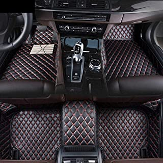 for Honda Civic 2009-2011(Accelerator Pedal Floor) Custom Car Floor Mats Luxury XPE Leather Full Surrounded Protection Waterproof Anti-Slip Car mat Carpet Interior Liners Accessories Black and Red