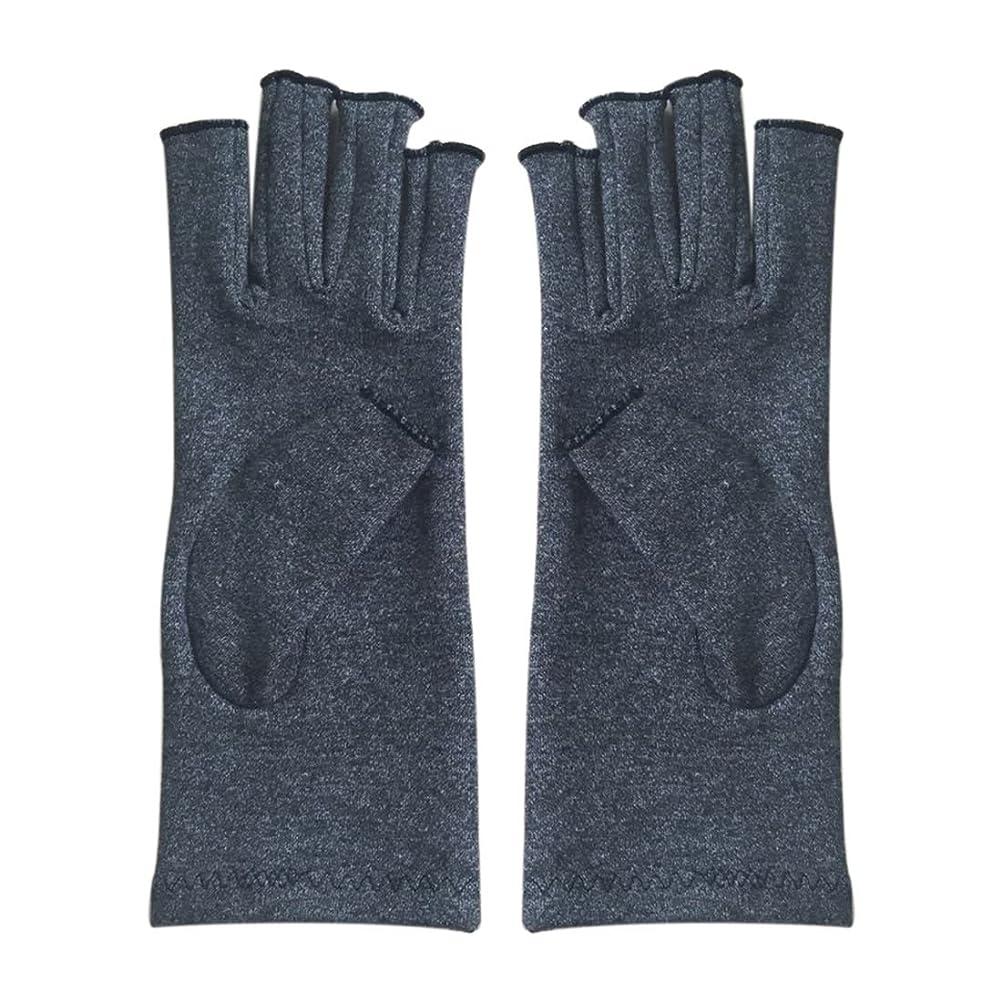 好きである落とし穴不透明なSODIAL 1ペア成人男性女性用弾性コットンコンプレッション手袋手関節炎関節痛鎮痛軽減S -灰色、S