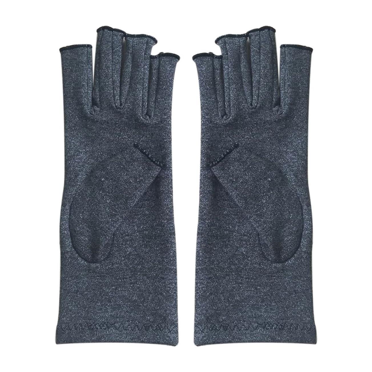 縮約損なうモトリーCUHAWUDBA 1ペア成人男性女性用弾性コットンコンプレッション手袋手関節炎関節痛鎮痛軽減M - 灰色、M