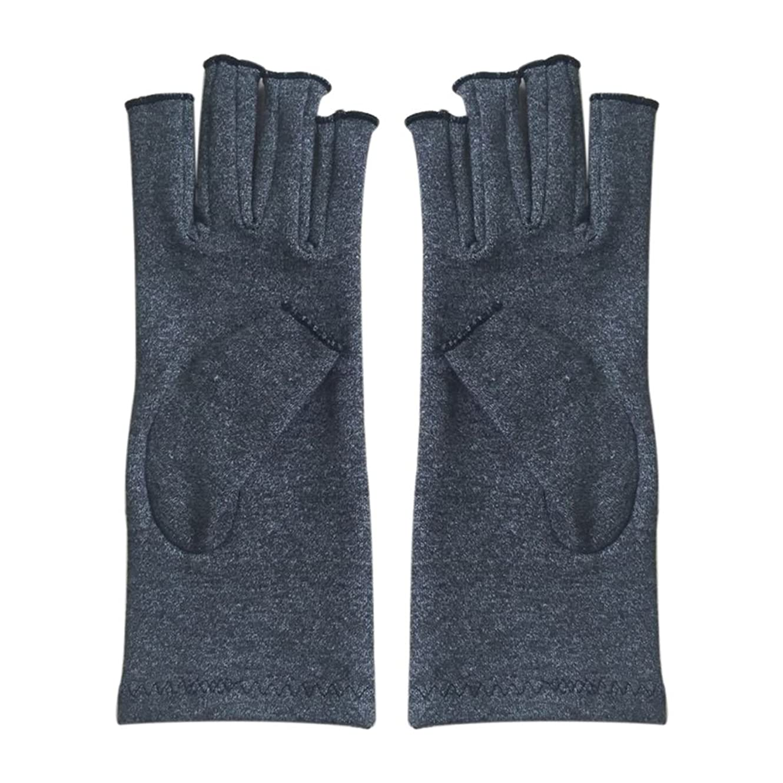 クラフト球状呪いGaoominy 1ペア成人男性女性用弾性コットンコンプレッション手袋手関節炎関節痛鎮痛軽減S -灰色、S