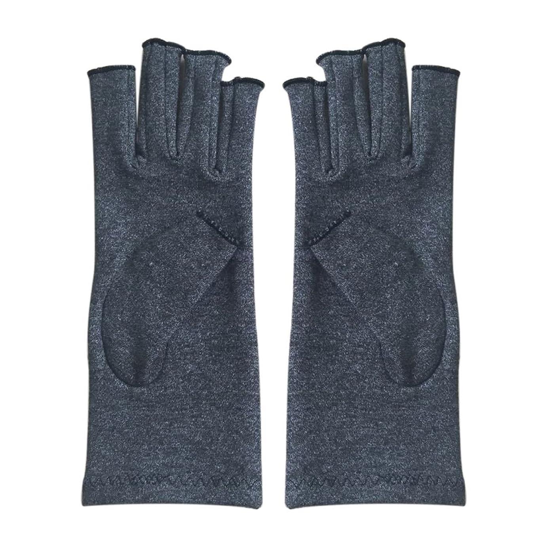 専門知識事前にのホストCikuso 1ペア成人男性女性用弾性コットンコンプレッション手袋手関節炎関節痛鎮痛軽減M - 灰色、M
