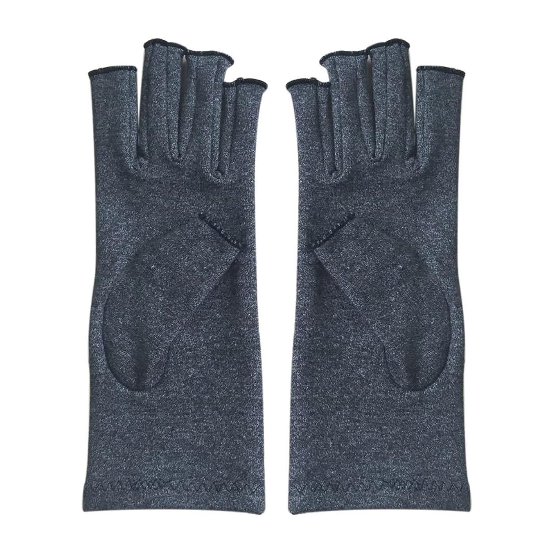 ポーターエリート朝ごはんGaoominy 1ペア成人男性女性用弾性コットンコンプレッション手袋手関節炎関節痛鎮痛軽減S -灰色、S
