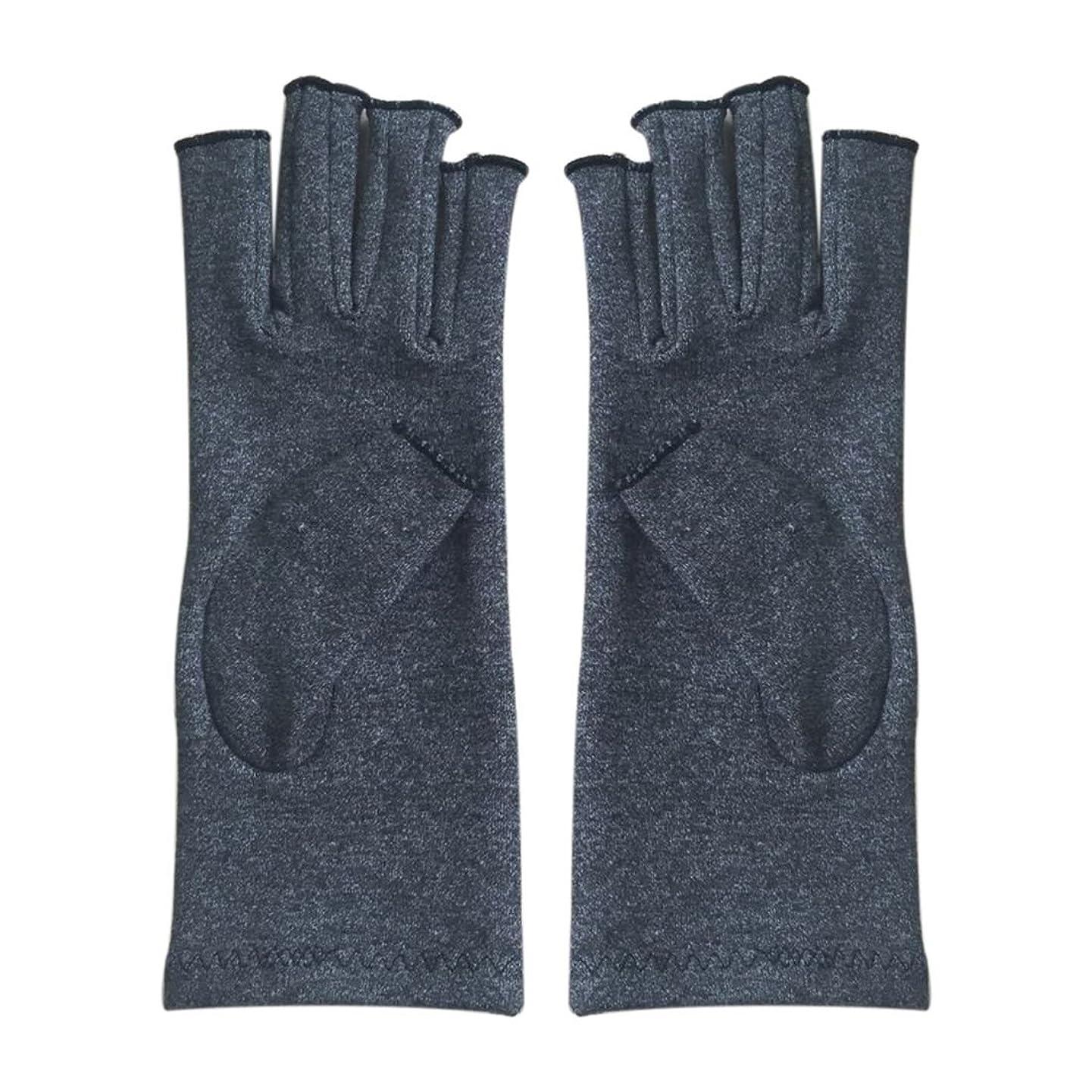 良いナサニエル区オーバーヘッドSODIAL 1ペア成人男性女性用弾性コットンコンプレッション手袋手関節炎関節痛鎮痛軽減S -灰色、S