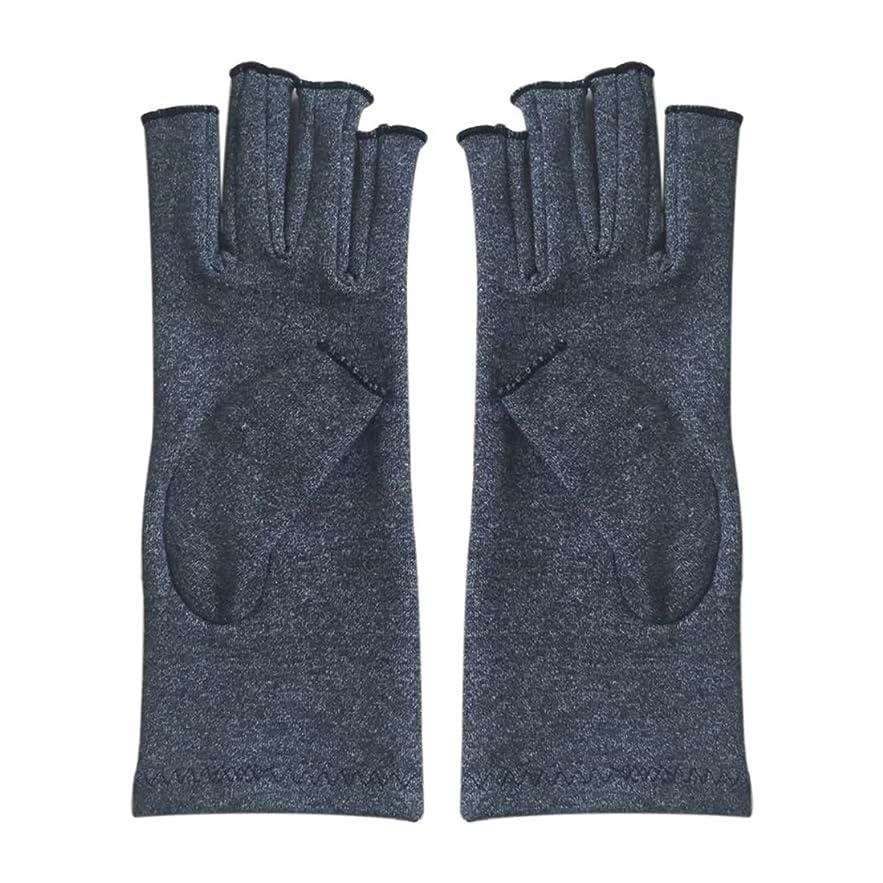 賠償靴ヘッドレスCUHAWUDBA 1ペア成人男性女性用弾性コットンコンプレッション手袋手関節炎関節痛鎮痛軽減M - 灰色、M